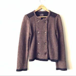 The Limited Double Breasted Knit Cardigan Sweater